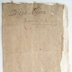 Manuscritos antiguos: MANUSCRITO ESPAÑOL 1660 CON CURIOSA CUBIERTA ORIGINAL DE PAPEL PRENSADO. Lote 34365753