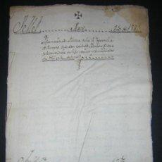 Manuscritos antiguos: 1779 - MORÉS, ZARAGOZA - INFORME DE POBREZA - VIUDA ALEGA SER POBRE DE SOLEMNIDAD. Lote 34441033