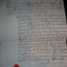 Manuscritos antiguos: MANUSCRITOS AÑO 1711.CABALLERO DE LA ORDEN DE SANTIAGO. Lote 34515450