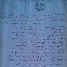 Manuscritos antiguos: 1856. MANUSCRITO ORIGINAL DE ANTONIO BERGNES DE LAS CASAS JOSE FLAQUER BARCELONA METODO OLLENDORFF. Lote 34560298