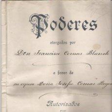 Manuscritos antiguos: DOCUMENTO DE PODERES DE 1917. Lote 34621364
