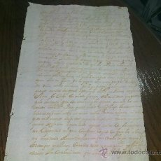 Manuscritos antiguos: CARTA MANUSCRITA DE 1725. Lote 34626116