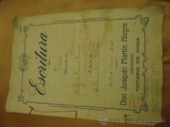 ANTIGUISIMAS ESCRITUTRAS MANUSCRITAS 1919 (Coleccionismo - Documentos - Manuscritos)
