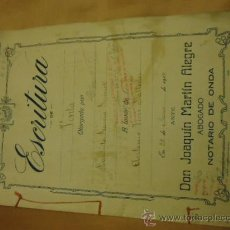 Manuscritos antiguos: ANTIGUISIMAS ESCRITUTRAS MANUSCRITAS 1919 . Lote 34692226