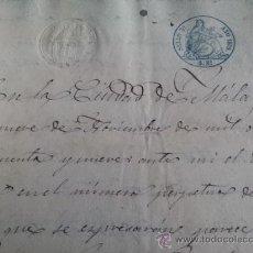 Manuscritos antiguos: ESCRITURA 1859 MALAGA COMPRAVENTA TIERRAS EN RONDA. Lote 35205040