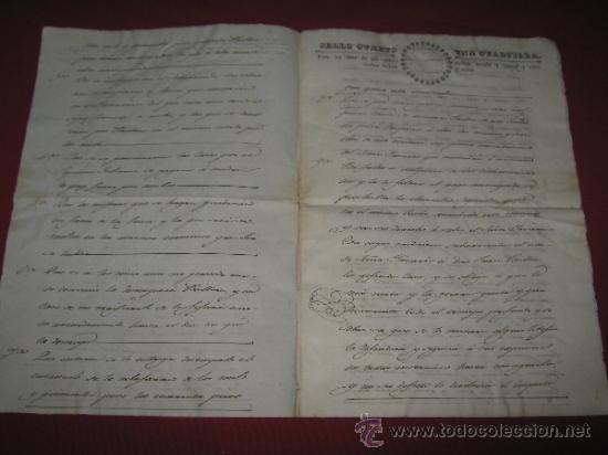 Manuscritos antiguos: DOCUMENTO FECHADO EN MEXICO EN 1834 - CONTRATO - ESCRITURA - Foto 2 - 35339689