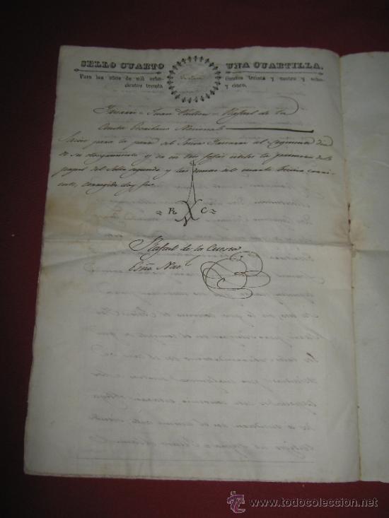 Manuscritos antiguos: DOCUMENTO FECHADO EN MEXICO EN 1834 - CONTRATO - ESCRITURA - Foto 4 - 35339689