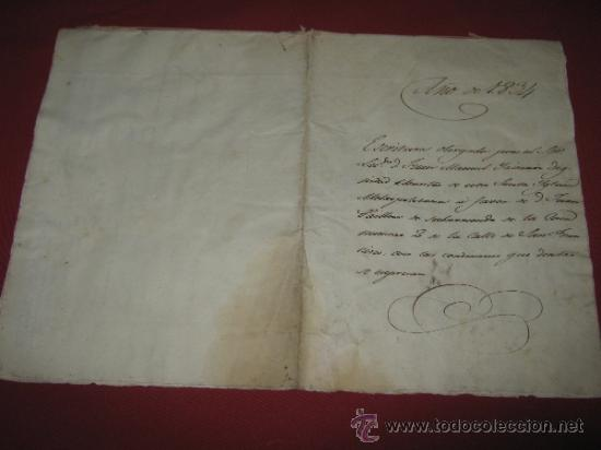 Manuscritos antiguos: DOCUMENTO FECHADO EN MEXICO EN 1834 - CONTRATO - ESCRITURA - Foto 5 - 35339689