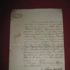 Manuscritos antiguos: DOCUMENTO DEL ARZOBISPADO DE MEXICO DE 1855. Lote 35339632