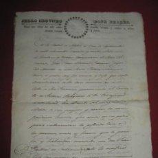 Manuscritos antiguos: DOCUMENTO FECHADO EN MEXICO EN 1834 - CONTRATO - ESCRITURA. Lote 35339689