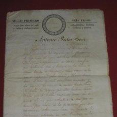 Manuscritos antiguos: DOCUMENTO ESCRITURA EN MEXICO 1840. Lote 35340078