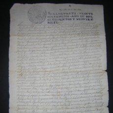 Manuscritos antiguos: 1727 - MILMARCOS, GUADALJARA - ESCRITURA DE VENTA Y CESION DE BIENES. Lote 35452411