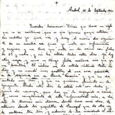 Manuscritos antiguos: CARTA MANUSCRITA AÑO 1940 - LIQUIDACIÓN POR CIERRE DE PÁGINA. Lote 243999540