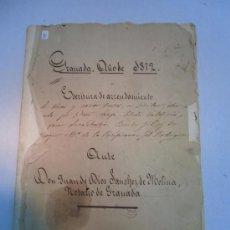 Manuscritos antiguos: ESCRITURAS DE ARRENDAMIENTO, GRANADA 1872. Lote 35471625