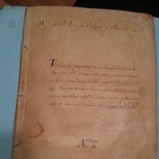 Manuscritos antiguos: 1520 - 1710 ERMITAS DE CÓRDOBA. TÍTULOS DE PROPIEDAD XIX DE -EL CERRO DE LA CARCEL- LAGAR DEL PARDO. Lote 35488181