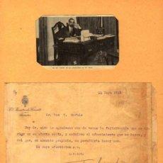 Manuscritos antiguos: CARTA MECANOESCRITA Y AUTOGRAFA DE FRANSESC CAMBÓ, MINISTRO DE FOMENTO. 11 MAYO 1918.. Lote 35588207