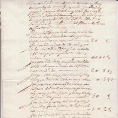 Manuscritos antiguos: CRESPIÁ-PLA DE L'ESTANY. CASA PORCIOLAS:'MEMORIAL DE GASTOS...EN OBRAS DESDEL ANY 1740 FINS 1749... . Lote 35605470
