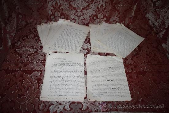INTERESANTE LOTE DE MANUSCRITOS ORIGINALES DE PERE ELIAS I BUSQUETA - AÑOS 34, 35 Y 36 - FIRMADOS (Coleccionismo - Documentos - Manuscritos)