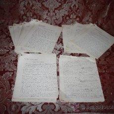Manuscritos antiguos: INTERESANTE LOTE DE MANUSCRITOS ORIGINALES DE PERE ELIAS I BUSQUETA - AÑOS 34, 35 Y 36 - FIRMADOS. Lote 35687475