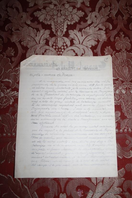 Manuscritos antiguos: INTERESANTE LOTE DE MANUSCRITOS ORIGINALES DE PERE ELIAS I BUSQUETA - AÑOS 34, 35 Y 36 - FIRMADOS - Foto 2 - 35687475