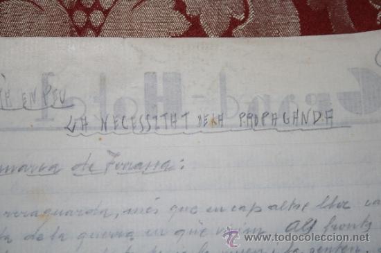 Manuscritos antiguos: INTERESANTE LOTE DE MANUSCRITOS ORIGINALES DE PERE ELIAS I BUSQUETA - AÑOS 34, 35 Y 36 - FIRMADOS - Foto 3 - 35687475