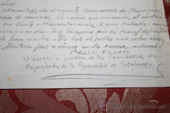 Manuscritos antiguos: INTERESANTE LOTE DE MANUSCRITOS ORIGINALES DE PERE ELIAS I BUSQUETA - AÑOS 34, 35 Y 36 - FIRMADOS - Foto 5 - 35687475