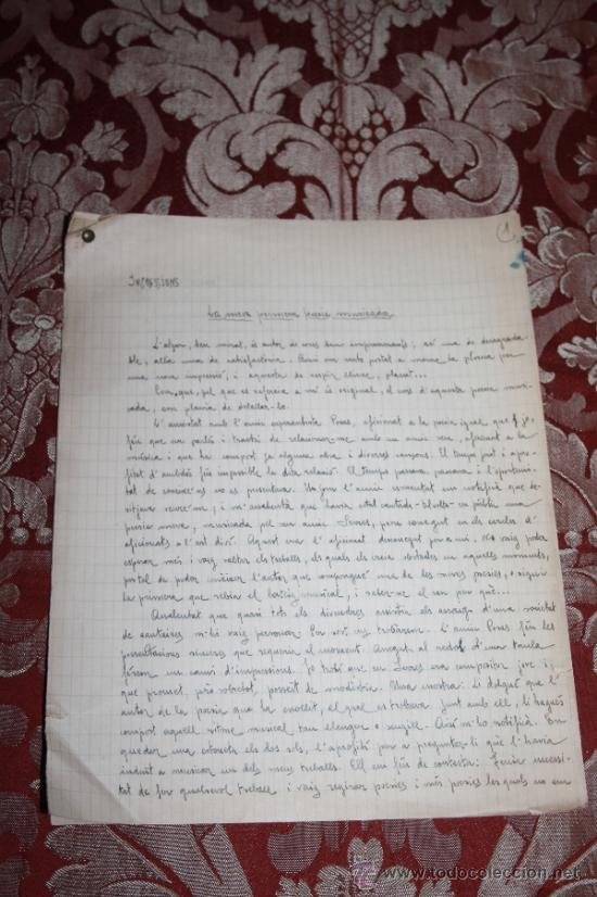 Manuscritos antiguos: INTERESANTE LOTE DE MANUSCRITOS ORIGINALES DE PERE ELIAS I BUSQUETA - AÑOS 34, 35 Y 36 - FIRMADOS - Foto 6 - 35687475