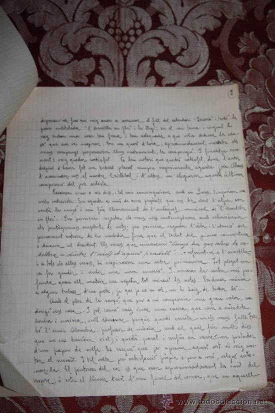 Manuscritos antiguos: INTERESANTE LOTE DE MANUSCRITOS ORIGINALES DE PERE ELIAS I BUSQUETA - AÑOS 34, 35 Y 36 - FIRMADOS - Foto 8 - 35687475
