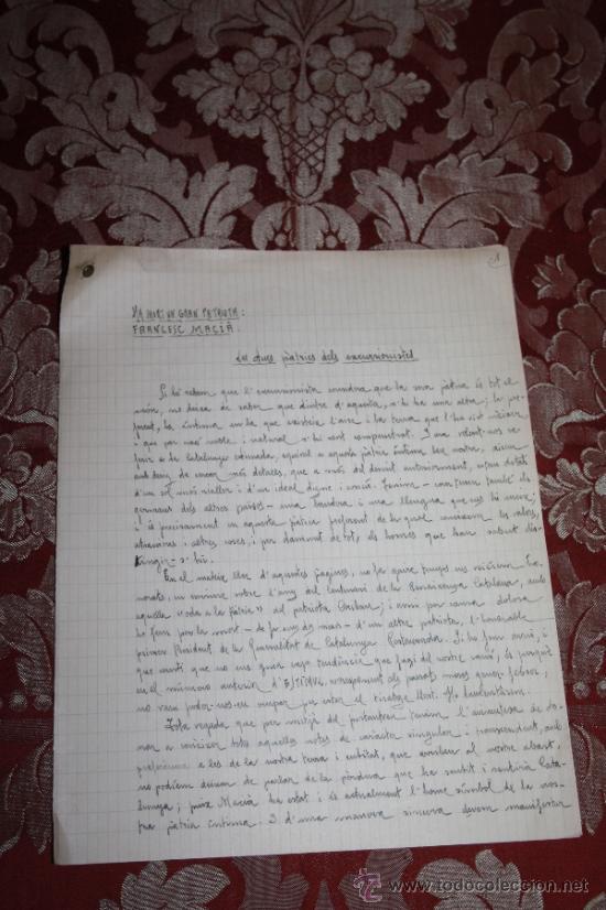 Manuscritos antiguos: INTERESANTE LOTE DE MANUSCRITOS ORIGINALES DE PERE ELIAS I BUSQUETA - AÑOS 34, 35 Y 36 - FIRMADOS - Foto 11 - 35687475