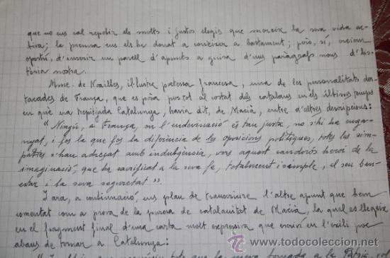 Manuscritos antiguos: INTERESANTE LOTE DE MANUSCRITOS ORIGINALES DE PERE ELIAS I BUSQUETA - AÑOS 34, 35 Y 36 - FIRMADOS - Foto 13 - 35687475