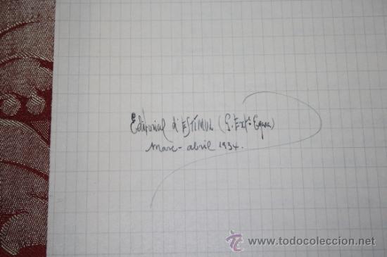 Manuscritos antiguos: INTERESANTE LOTE DE MANUSCRITOS ORIGINALES DE PERE ELIAS I BUSQUETA - AÑOS 34, 35 Y 36 - FIRMADOS - Foto 15 - 35687475
