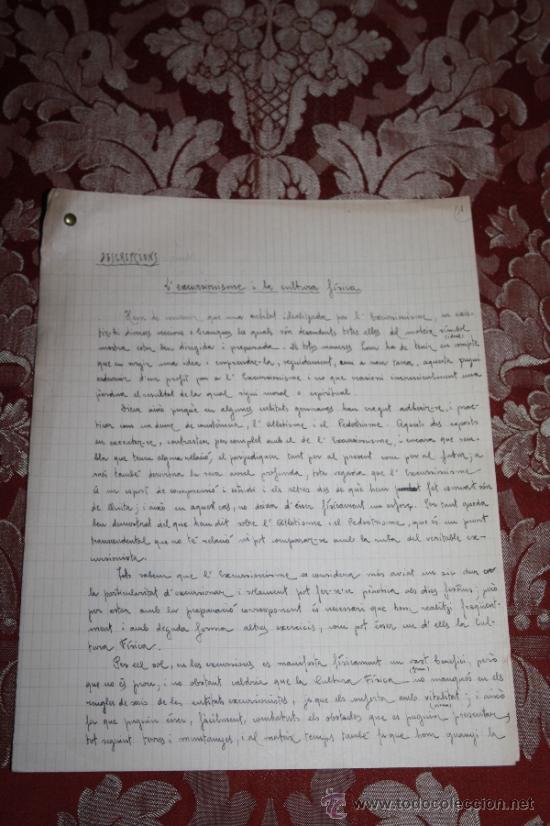 Manuscritos antiguos: INTERESANTE LOTE DE MANUSCRITOS ORIGINALES DE PERE ELIAS I BUSQUETA - AÑOS 34, 35 Y 36 - FIRMADOS - Foto 16 - 35687475