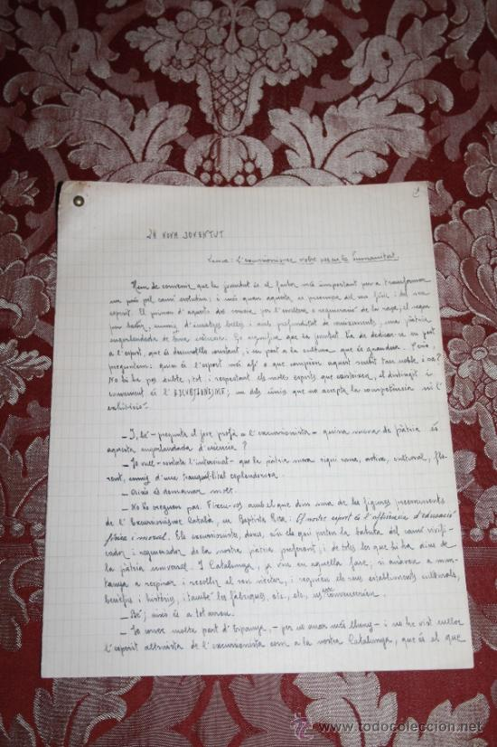 Manuscritos antiguos: INTERESANTE LOTE DE MANUSCRITOS ORIGINALES DE PERE ELIAS I BUSQUETA - AÑOS 34, 35 Y 36 - FIRMADOS - Foto 20 - 35687475