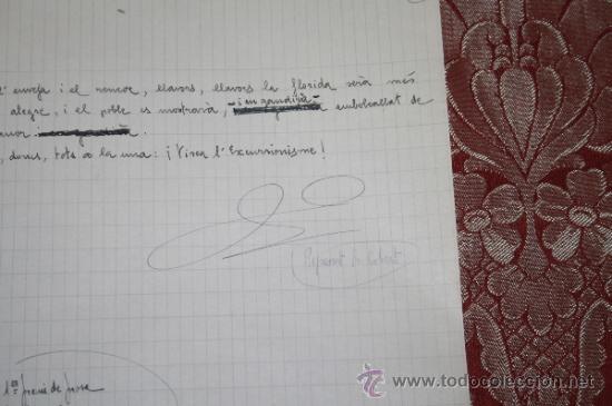 Manuscritos antiguos: INTERESANTE LOTE DE MANUSCRITOS ORIGINALES DE PERE ELIAS I BUSQUETA - AÑOS 34, 35 Y 36 - FIRMADOS - Foto 22 - 35687475