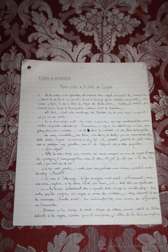 Manuscritos antiguos: INTERESANTE LOTE DE MANUSCRITOS ORIGINALES DE PERE ELIAS I BUSQUETA - AÑOS 34, 35 Y 36 - FIRMADOS - Foto 24 - 35687475