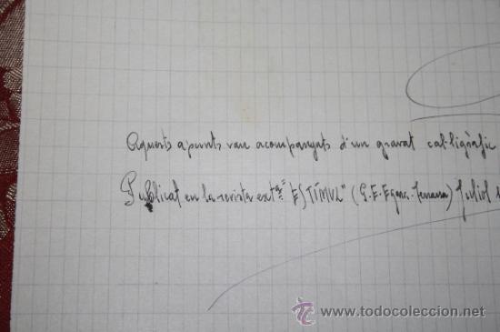 Manuscritos antiguos: INTERESANTE LOTE DE MANUSCRITOS ORIGINALES DE PERE ELIAS I BUSQUETA - AÑOS 34, 35 Y 36 - FIRMADOS - Foto 26 - 35687475