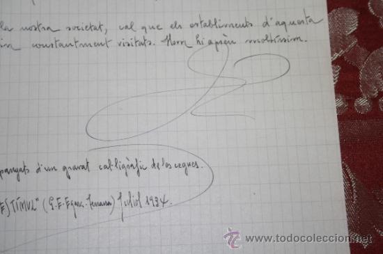 Manuscritos antiguos: INTERESANTE LOTE DE MANUSCRITOS ORIGINALES DE PERE ELIAS I BUSQUETA - AÑOS 34, 35 Y 36 - FIRMADOS - Foto 27 - 35687475