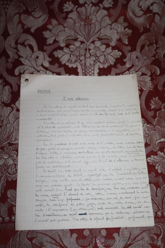 Manuscritos antiguos: INTERESANTE LOTE DE MANUSCRITOS ORIGINALES DE PERE ELIAS I BUSQUETA - AÑOS 34, 35 Y 36 - FIRMADOS - Foto 28 - 35687475