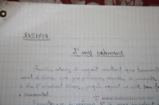 Manuscritos antiguos: INTERESANTE LOTE DE MANUSCRITOS ORIGINALES DE PERE ELIAS I BUSQUETA - AÑOS 34, 35 Y 36 - FIRMADOS - Foto 29 - 35687475