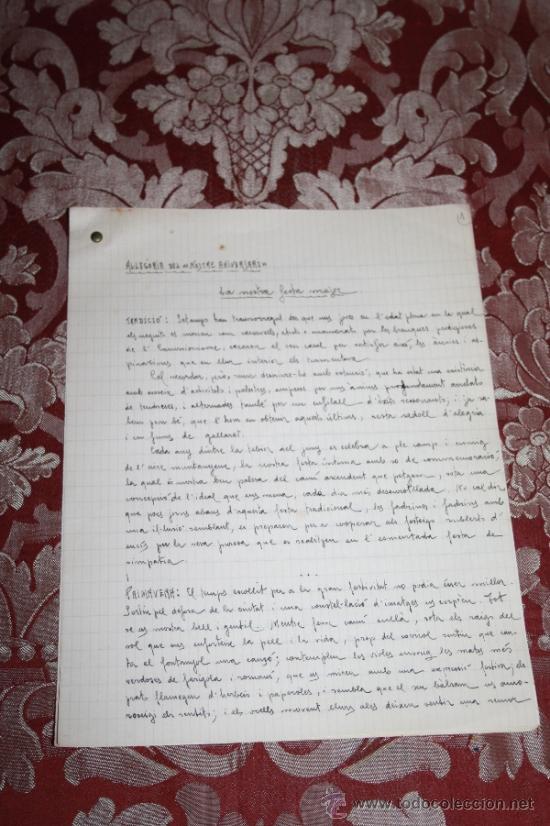Manuscritos antiguos: INTERESANTE LOTE DE MANUSCRITOS ORIGINALES DE PERE ELIAS I BUSQUETA - AÑOS 34, 35 Y 36 - FIRMADOS - Foto 31 - 35687475