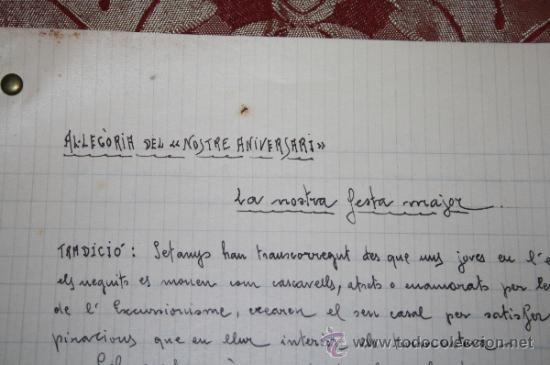 Manuscritos antiguos: INTERESANTE LOTE DE MANUSCRITOS ORIGINALES DE PERE ELIAS I BUSQUETA - AÑOS 34, 35 Y 36 - FIRMADOS - Foto 32 - 35687475