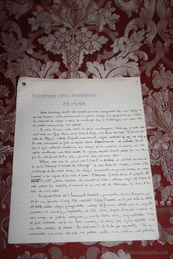 Manuscritos antiguos: INTERESANTE LOTE DE MANUSCRITOS ORIGINALES DE PERE ELIAS I BUSQUETA - AÑOS 34, 35 Y 36 - FIRMADOS - Foto 35 - 35687475