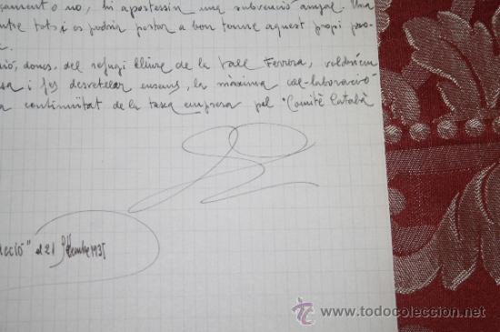 Manuscritos antiguos: INTERESANTE LOTE DE MANUSCRITOS ORIGINALES DE PERE ELIAS I BUSQUETA - AÑOS 34, 35 Y 36 - FIRMADOS - Foto 37 - 35687475