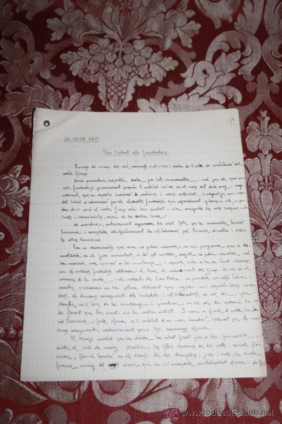 Manuscritos antiguos: INTERESANTE LOTE DE MANUSCRITOS ORIGINALES DE PERE ELIAS I BUSQUETA - AÑOS 34, 35 Y 36 - FIRMADOS - Foto 39 - 35687475