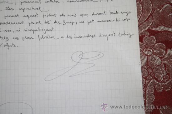 Manuscritos antiguos: INTERESANTE LOTE DE MANUSCRITOS ORIGINALES DE PERE ELIAS I BUSQUETA - AÑOS 34, 35 Y 36 - FIRMADOS - Foto 41 - 35687475