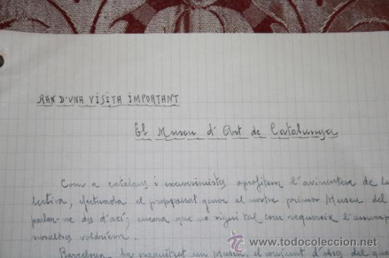 Manuscritos antiguos: INTERESANTE LOTE DE MANUSCRITOS ORIGINALES DE PERE ELIAS I BUSQUETA - AÑOS 34, 35 Y 36 - FIRMADOS - Foto 44 - 35687475