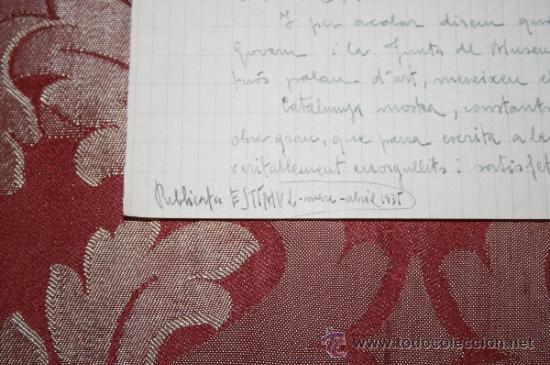 Manuscritos antiguos: INTERESANTE LOTE DE MANUSCRITOS ORIGINALES DE PERE ELIAS I BUSQUETA - AÑOS 34, 35 Y 36 - FIRMADOS - Foto 45 - 35687475