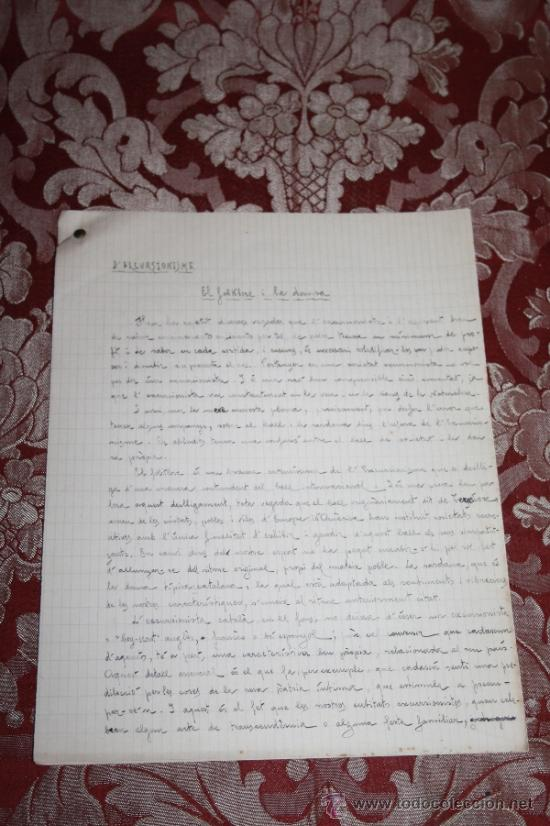 Manuscritos antiguos: INTERESANTE LOTE DE MANUSCRITOS ORIGINALES DE PERE ELIAS I BUSQUETA - AÑOS 34, 35 Y 36 - FIRMADOS - Foto 47 - 35687475