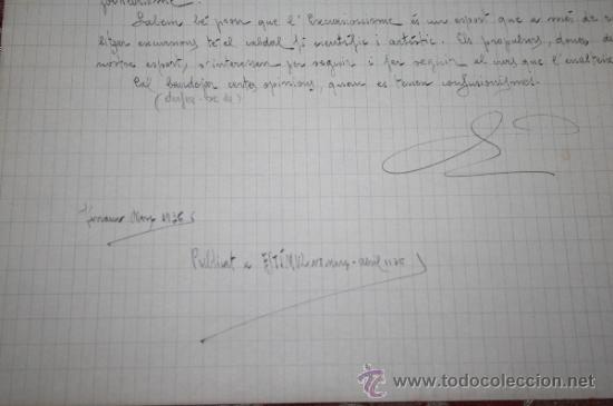 Manuscritos antiguos: INTERESANTE LOTE DE MANUSCRITOS ORIGINALES DE PERE ELIAS I BUSQUETA - AÑOS 34, 35 Y 36 - FIRMADOS - Foto 49 - 35687475