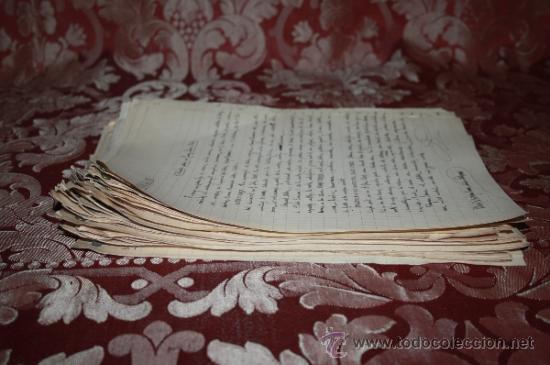 Manuscritos antiguos: INTERESANTE LOTE DE MANUSCRITOS ORIGINALES DE PERE ELIAS I BUSQUETA - AÑOS 34, 35 Y 36 - FIRMADOS - Foto 50 - 35687475